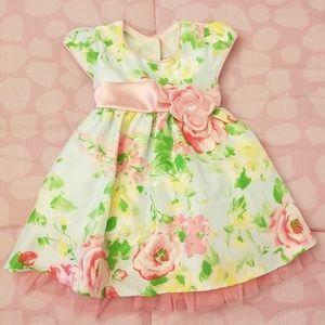 Jona Michelle Baby Girl Pink Flower Formal Dress